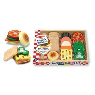 Sandwich Making Set Wooden Play Food by Melissa & Doug | Toys | chapters.indigo.ca