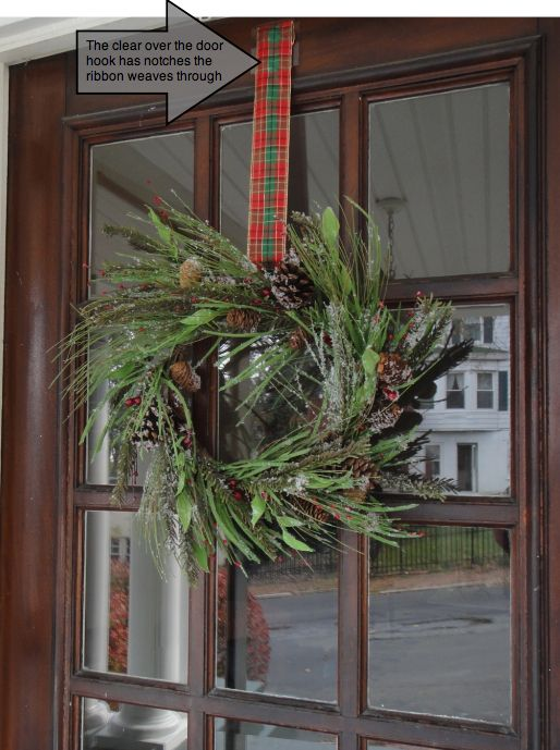 Great Wreath Pro Features A Clear Over The Door Hanger So It Is Almost Invisible  From Both