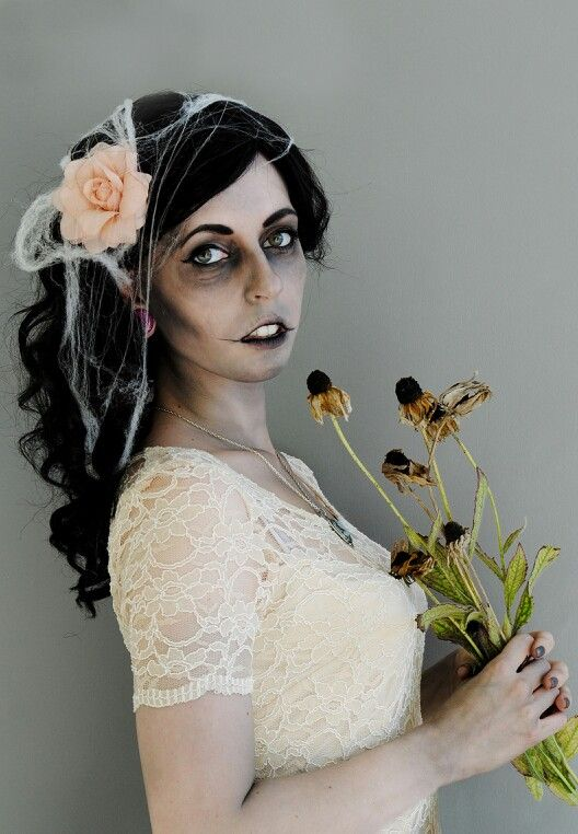 Corpse Bride, Halloween makeup done by makeup artist Devon Hillary, photo credit Lerch Photography.
