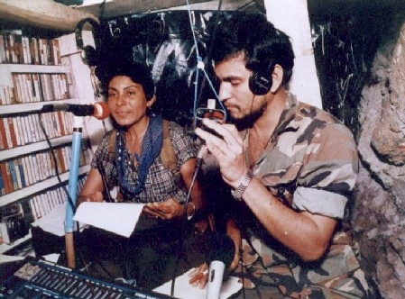 Broadcasting Radio Venceremos, the 'underground' radio network of the Farabundo Martí National Liberation Front during the Salvadoran Civil War.