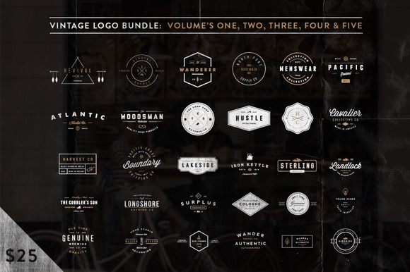 $5 Off - Vintage Bundle (Limited) by Hustle Supply Co. on Creative Market