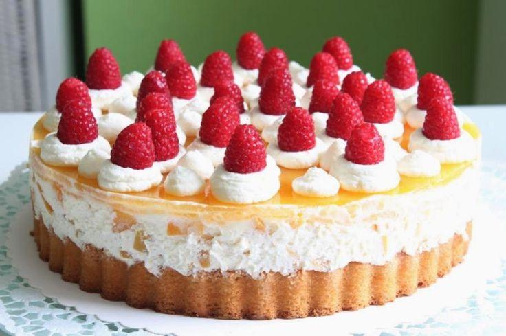 Pfirsich-Maracuja-Melba-Torte