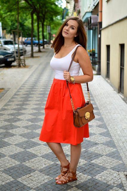 NfashioN : Coral Midi Skirt