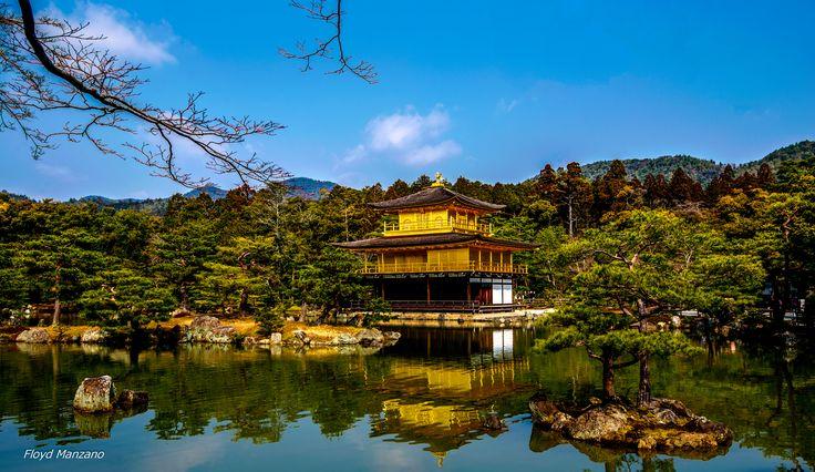 Kinkakuji Temple (Golden Pavilion),Kinkakuji, Kyoto, Japan, by  Floyd Manzano