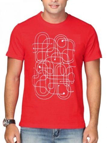 Red attractive men Tshirt