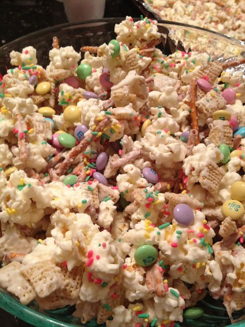 Bunny Bait, Whenever Bait I would want to try to make it with marshmallows like Rice Crispy Treats instead of White Chocolate