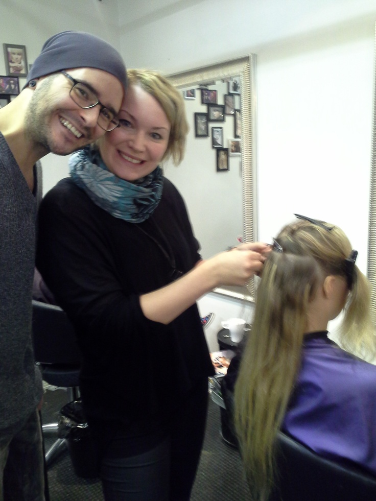 The Staff is doing hair extensions!