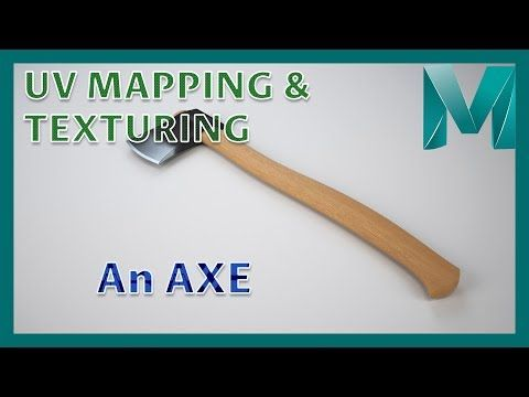 UV Mapping and Texturing an Axe || Autodesk Maya 2018