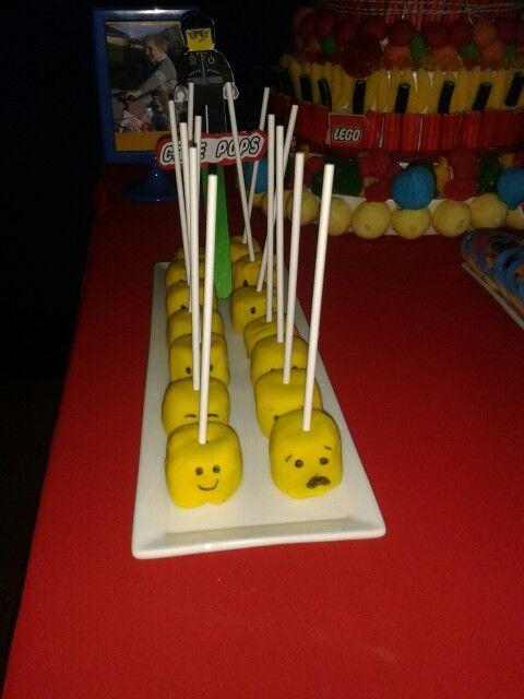 Lego cakepops birthday