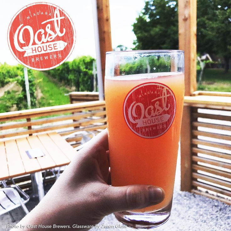 """Feature: Oast House Brewers  """"Our Barn, originally raised in the late 1800s…Has surely seen a thing or two over the years. Today, as home to the Niagara Oast House Brewers, it serves not only as a facility to brew great beer, but also houses a number of spaces each with their own unique feel. These include our tasting room (aka. The Beer Shed), events space (aka. The Hayloft) and Niagara's coolest outdoor Patio.""""  Glassware by Zenan Glass www.zenan.ca"""