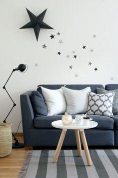 schnelle Deko - kleine Sterne aus Geschenkpapier