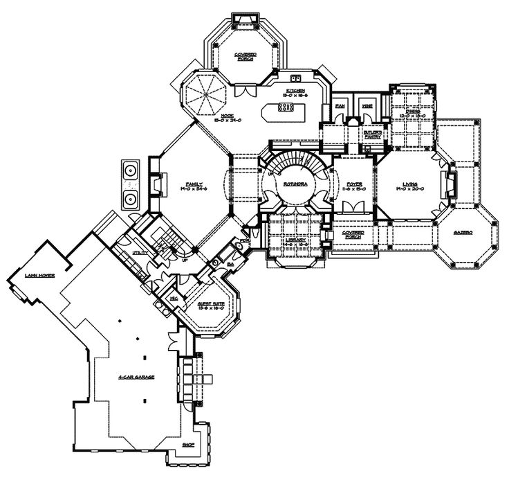 Southern House Plan First Floor - 071D-0214 | House Plans and More