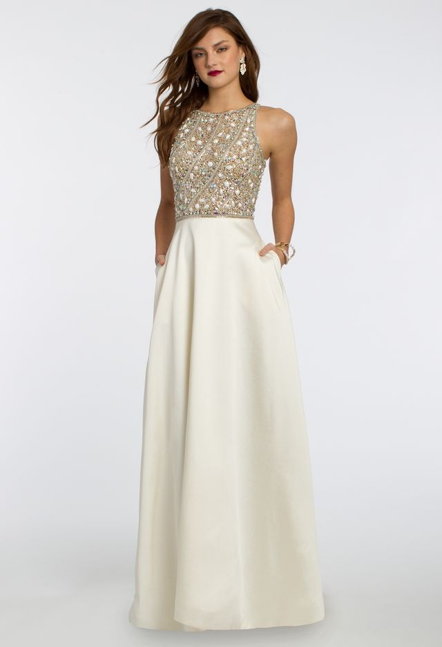 Beaded Mikado Ballgown Dress