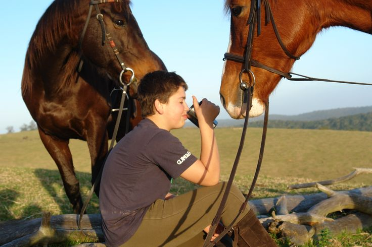 Morning tea on your morning horse trail...