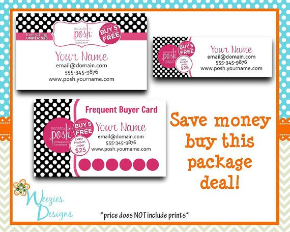 Perfectly Posh Business Package, Business Card, Direct Sales Marketing, Independant Consultant, Catalog Label, Frequent Buyer Card