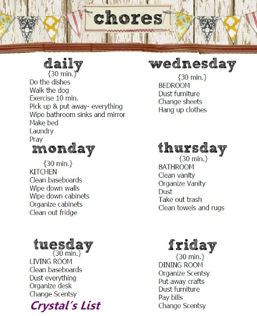 Best 25+ Daily chore list ideas only on Pinterest | Daily chore ...