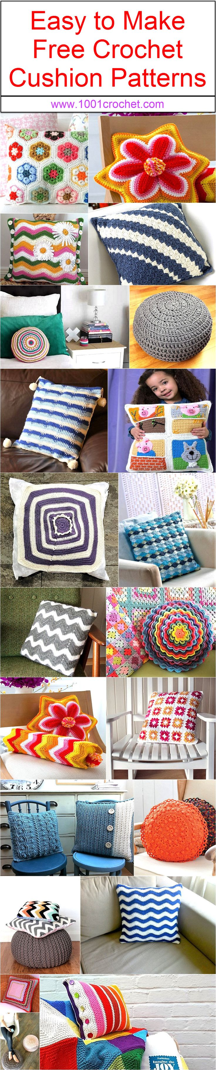 Best 25 crochet cushion pattern ideas on pinterest crochet easy to make free crochet cushion patterns bankloansurffo Image collections