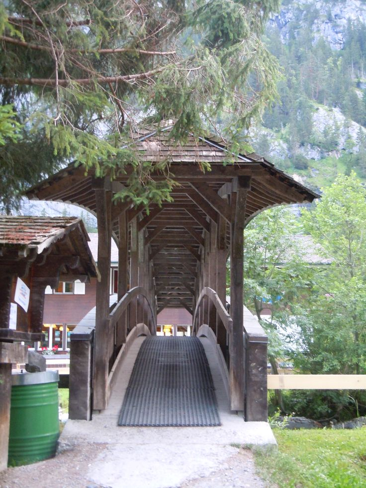 Bridge over the river at the camp in Switzerland (Photo by Lexi McKenzie)