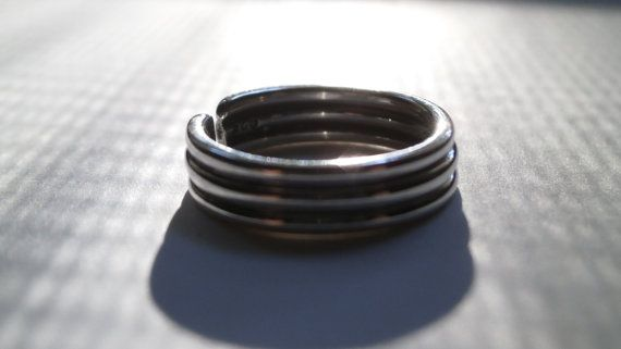 Silver Toe Ring Knuckle Ring Foot Jewelry by JewelryByKonstantis