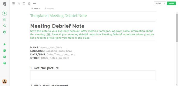 Meeting Debrief Evernote Templates Process Street Pinterest - free sop templates