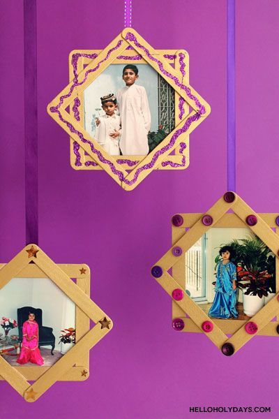 A Crafty Arab: 99 Creative Star Projects. One of the traditions of Eid is to wear new clothes. If you like to take a photo of your child's annual Eid outfit, preserve it with these 8 pointed star photo frames! Print out previous years' Eid photos as 5×7″ prints of and in the last few days leading up to Eid, have your …