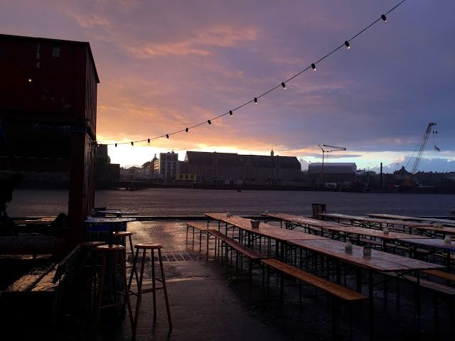 Raining & sunset. What a view! Copenhagen, Denmark. Proud of this shot <3