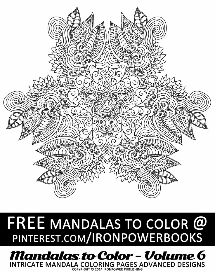 Free printable mandala coloring pages for adults for Doodly free