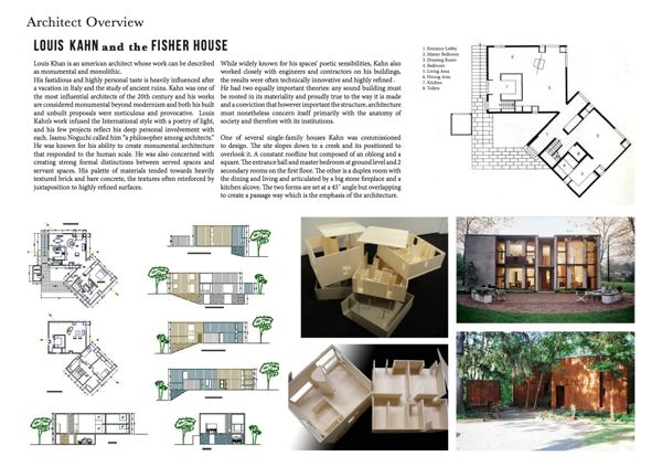 Architecture as Aesthetics: Fisher House By Louis Kahn