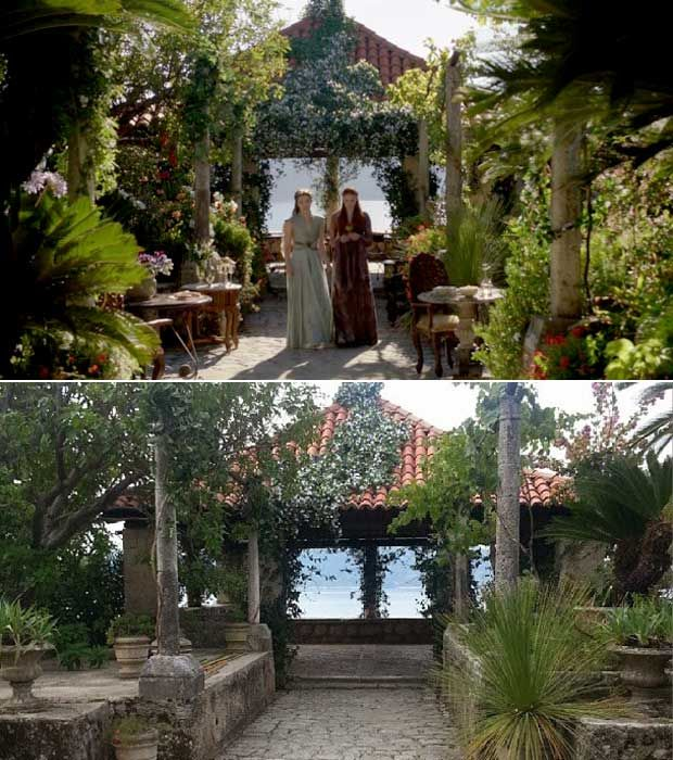 Trsteno Arboretum - Margaery Tyrell and Sansa in the gardens--Scene: Margaery Tyrell tries to make Sansa feel better about her wedding with Tyrion (Season 3, Episode 7).