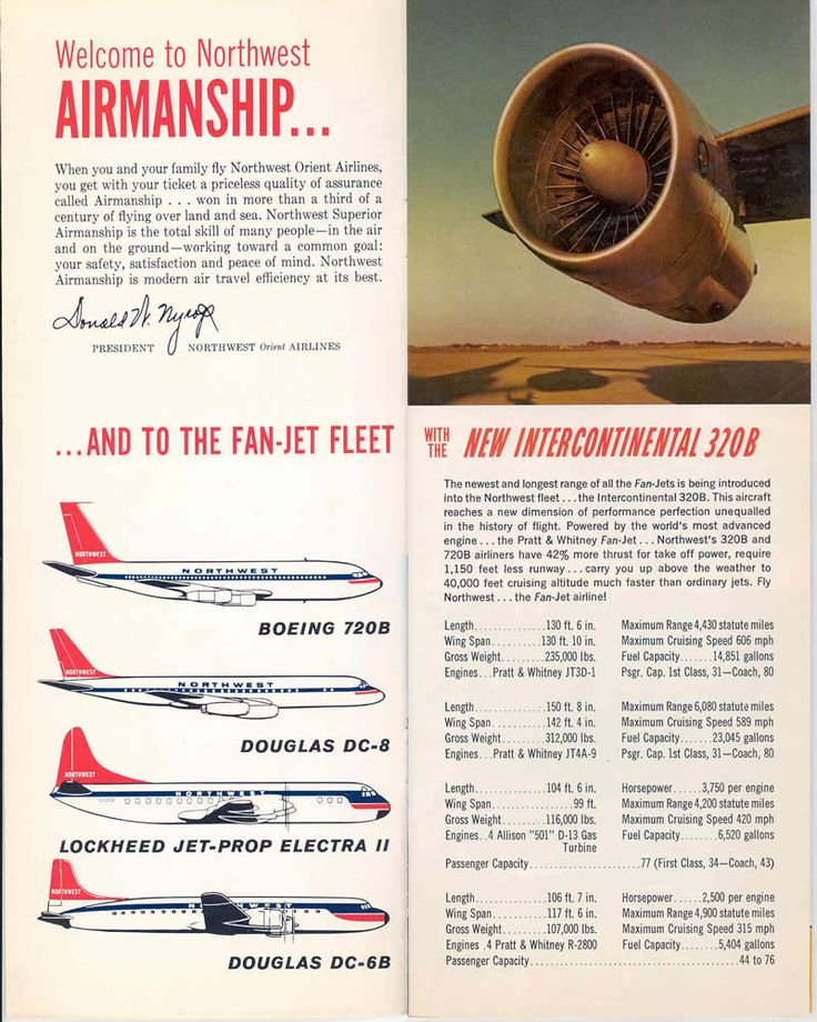 Northwest Airlines Aircraft Seatmaps - Airline Seating Maps and ...