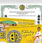 Guelph Budokan Centre of Martial Arts Certificates and Brochures