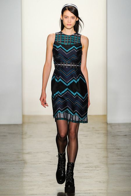 Geo/plaid combo Timo Weiland   Fall 2014 Ready-to-Wear Collection   Style.com