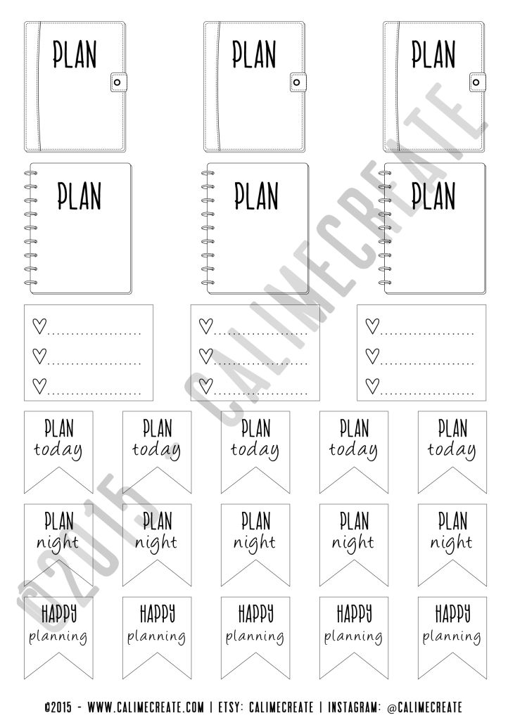 Calime Create - Free Planner Stickers