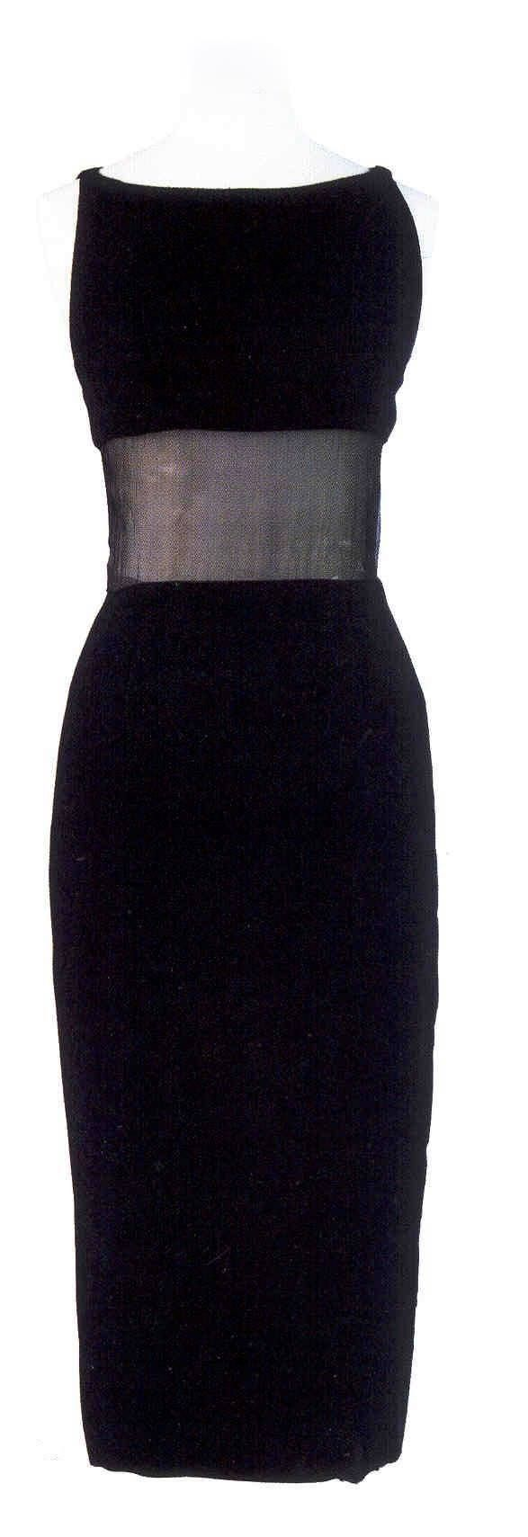 Marilyn Monroe's black dress she wore with Arthur miller while in London. One of my absolute favorites.