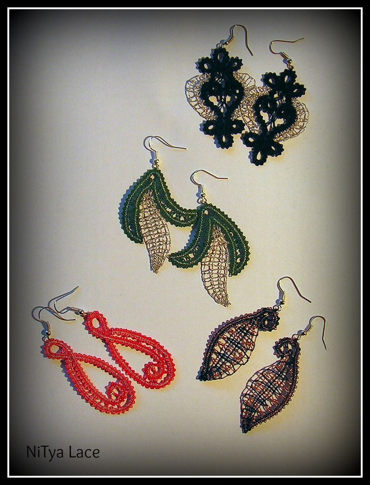 Bobbin lace earrings - Idria lace