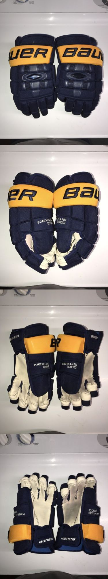 Gloves 20853: Bauer Nexus 1000 Hockey Gloves Buffalo Sabres Pro Return -> BUY IT NOW ONLY: $110 on eBay!