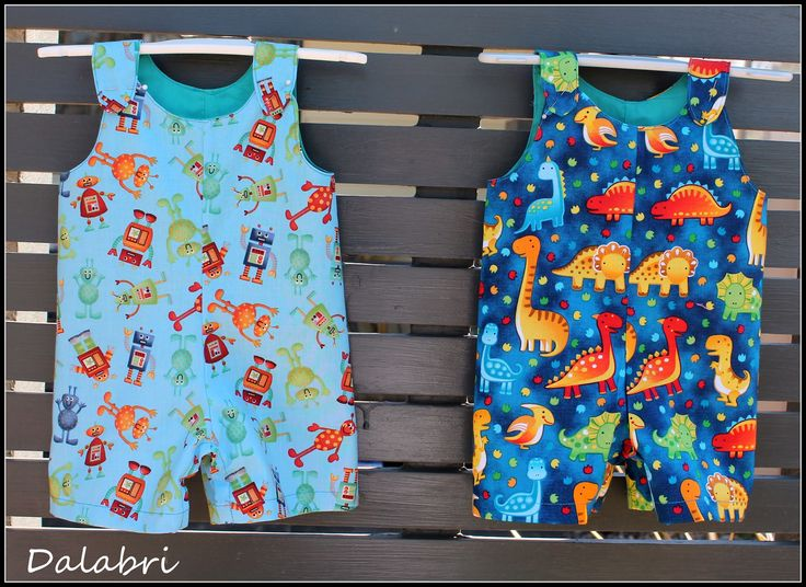 Boys shortalls , snap crotch, snaps on shoulders great for the bubba boys over summer. Pattern by Whimsy Couture