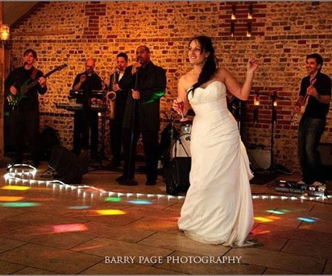 It's all about having fun here at @upwalthambarns for the wedding of Sarah + Duncan nearly 3 years ago!  Image Credit - @barrypagephotographer  Band - Groove Juice  Venue - @upwalthambarns  Wedding Planner - @inspiredbysusieevans #evedeso #eventdesignsource - posted by Susie Evans https://www.instagram.com/inspiredbysusieevans. See more Wedding Designs at http://Evedeso.com