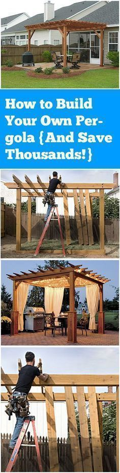 How to Build Your Own Pergola {And Save Thousands!} #buildyourowndeck #wooddeckcost
