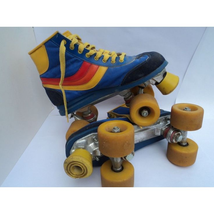 I had these ,was no good at it though..rainbow 1980's roller skates.