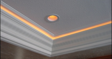 Kitchen Soffit Rope Lighting And Molding For The Home