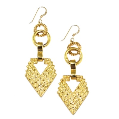 TOODLEBUNNY - Golden Sargent Earrings - Limited edition of 3 (last one available online!)