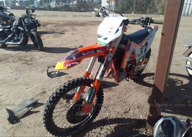Register And Bid On Salvage 2019 Ktm 450 Motorcycle For Sale