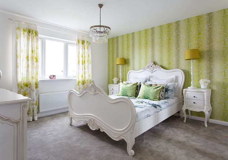 The Spring-inspired master bedroom at Walker Group's Hopefield Park in Bonnyrigg