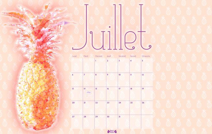 Papier Bonbon : Fond d'écran juillet 2015 - Ananas