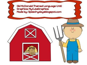 This is a great language companion unit to use with the popular Old McDonald song! Target pronouns, following directions, turn-taking skills, prepositions, with this fun pack!