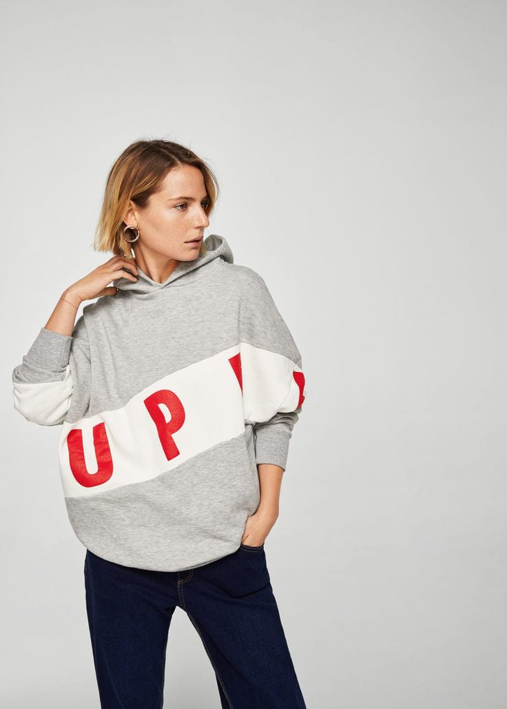 Oversize sweatshirt -  Women | MANGO USA