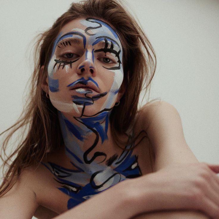 <p>London based photographer Marcin Kempski and make up artist Aneta Kostrzeewa mixed fine art, makeup and photography in this editorial for Sicky Magazine . The body paint was inspired by Picasso, Ba