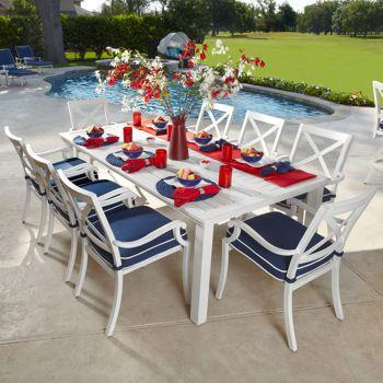 Costco: Riviera 9-piece Dining Set in White