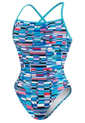 Multi Printed Cross Back - Speedo® Endurance Lite® - SPEEDO  - Speedo USA Swimwear